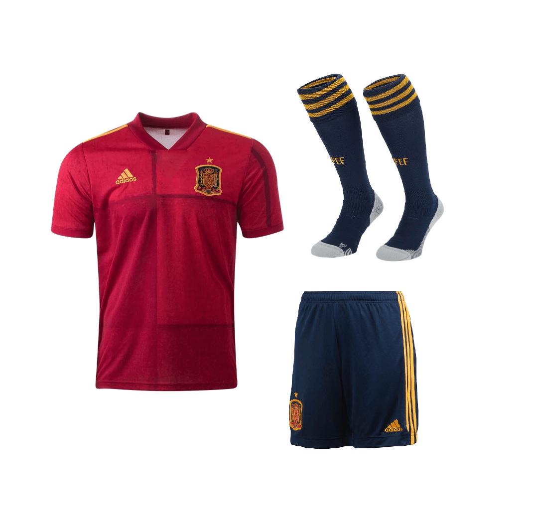 Домашний комплект сборной Испании 2020