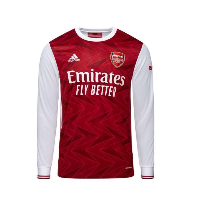 Домашняя футболка Арсенала с длинным рукавом сезон 2020-2021