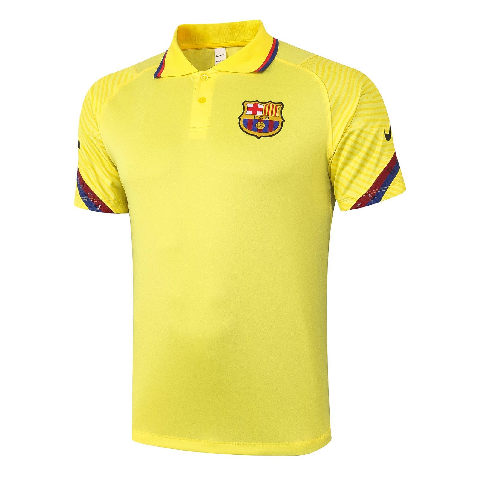 Футболка поло Барселоны 2020 — 2021 (Жёлтая)