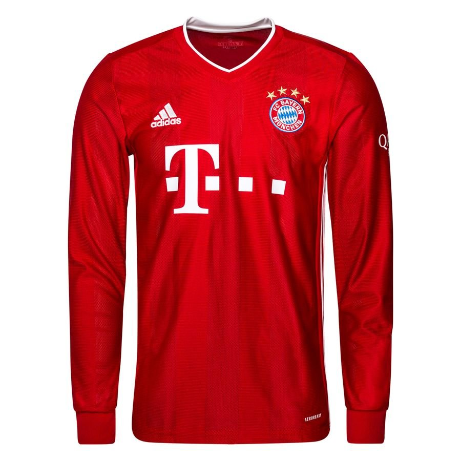 Домашняя футболка Баварии Мюнхен с длинным рукавом сезон 2020-2021