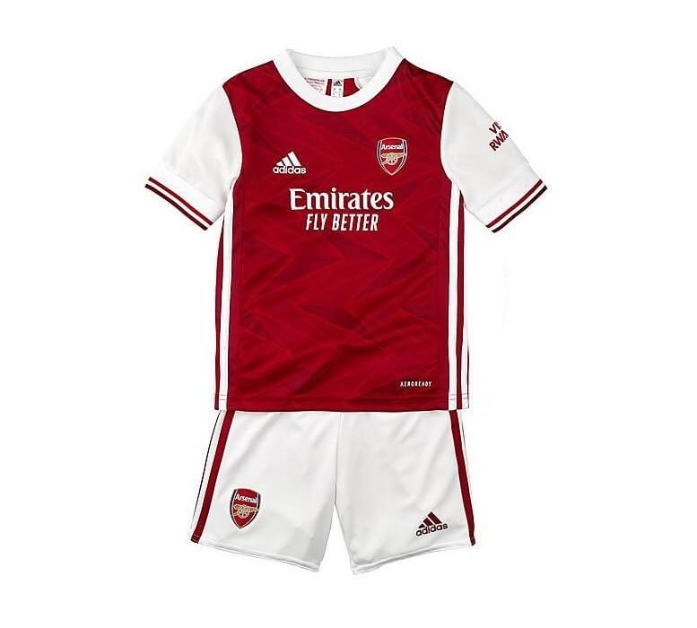 Детская домашняя форма Арсенала сезон 2020-2021