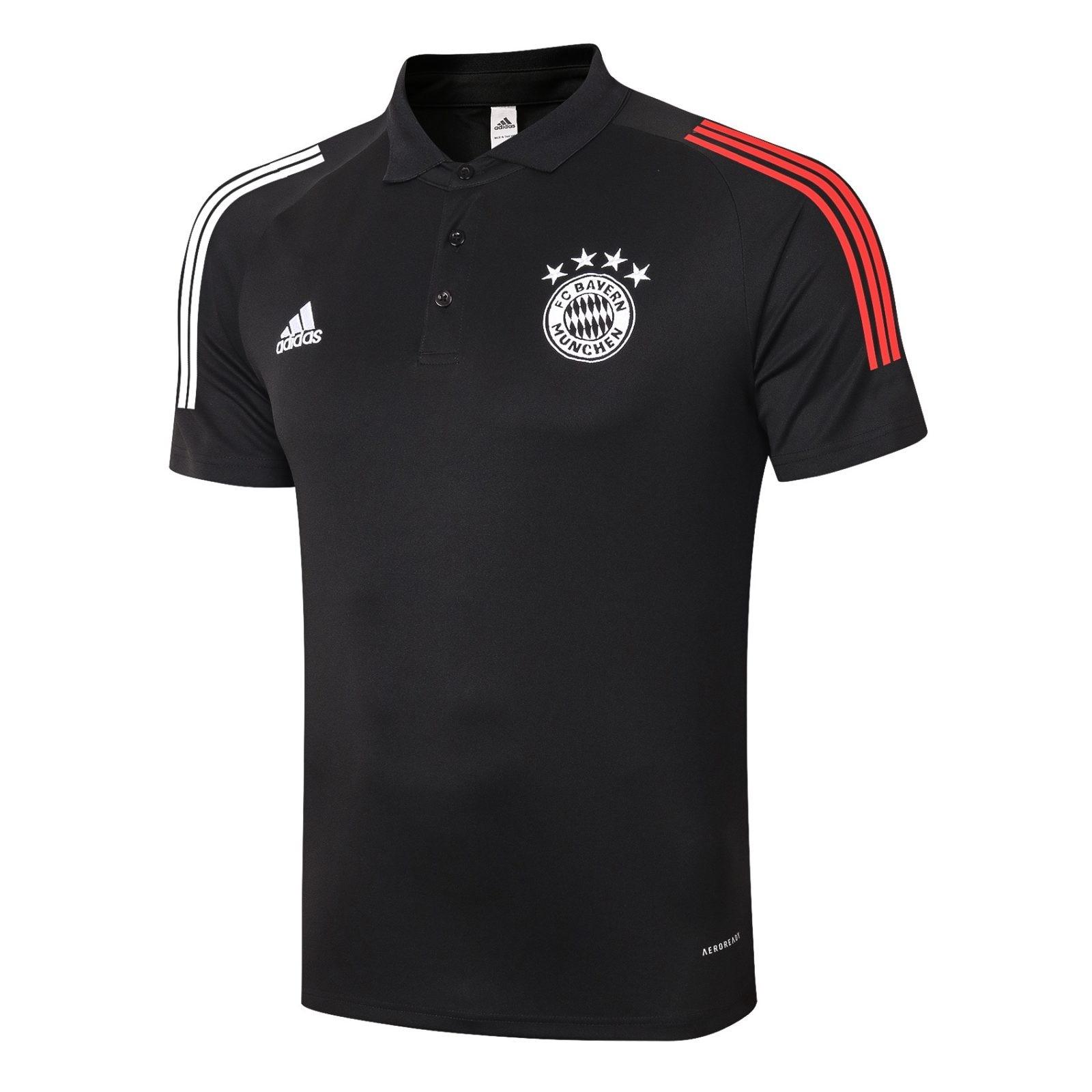 Футболка поло Баварии Мюнхен сезон 2020-2021 (Чёрная)