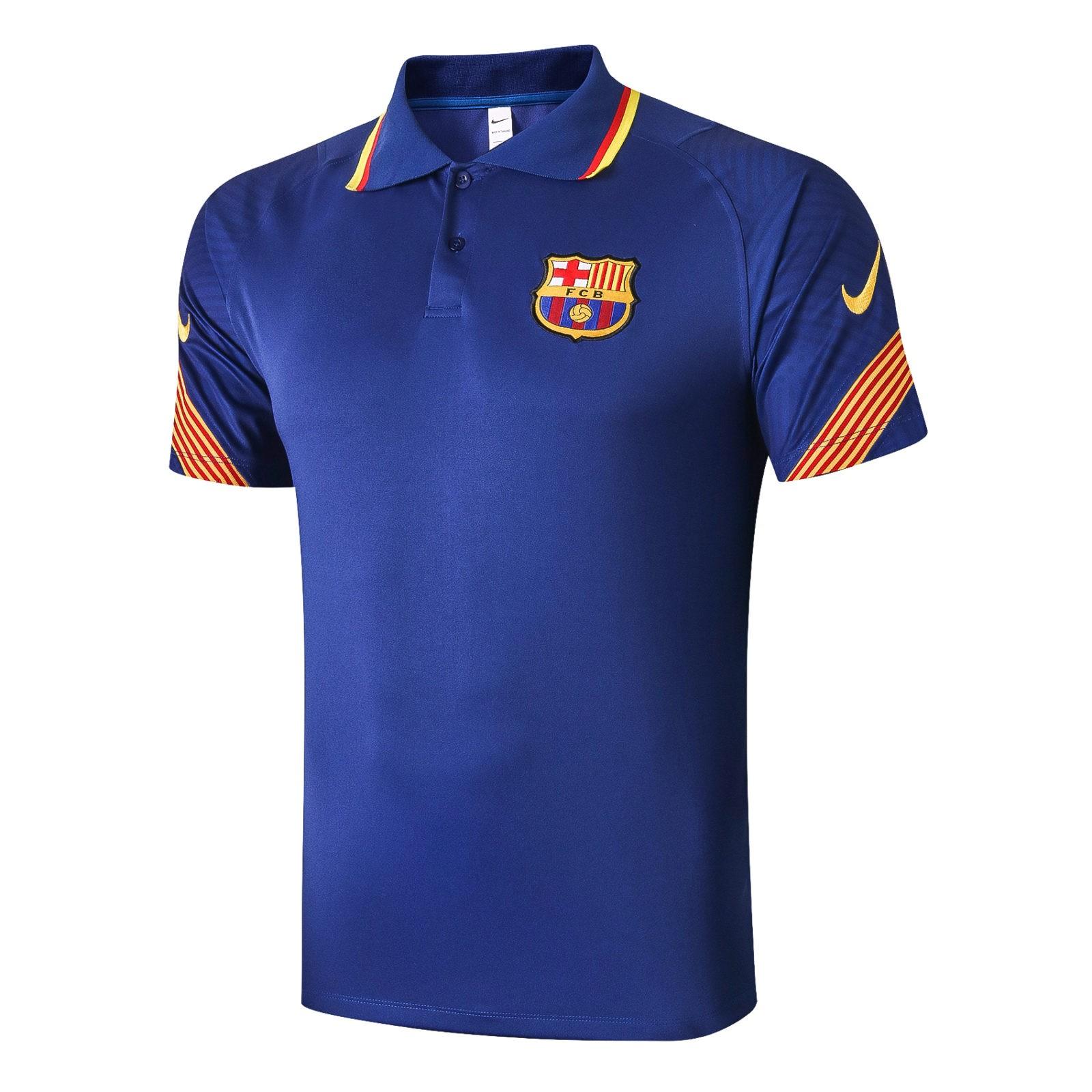 Футболка поло Барселоны 2020 — 2021 (Синяя)