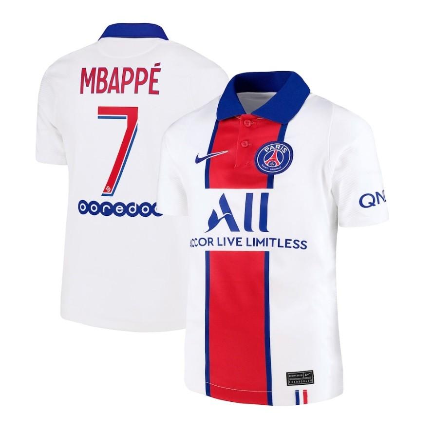 Выездная футболка ПСЖ сезон 2020-2021 Мбаппе, 7