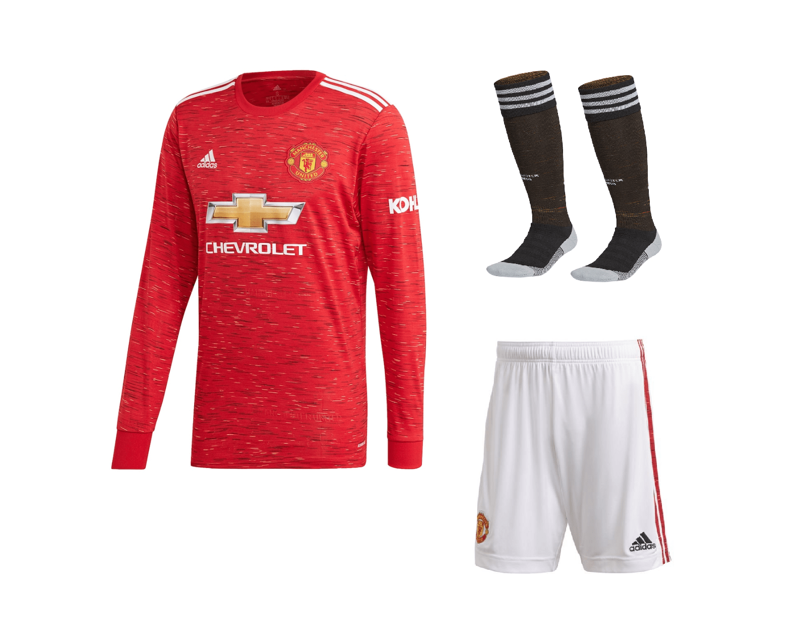 Домашний комплект Манчестер Юнайтед с длинным рукавом сезон 2020-2021