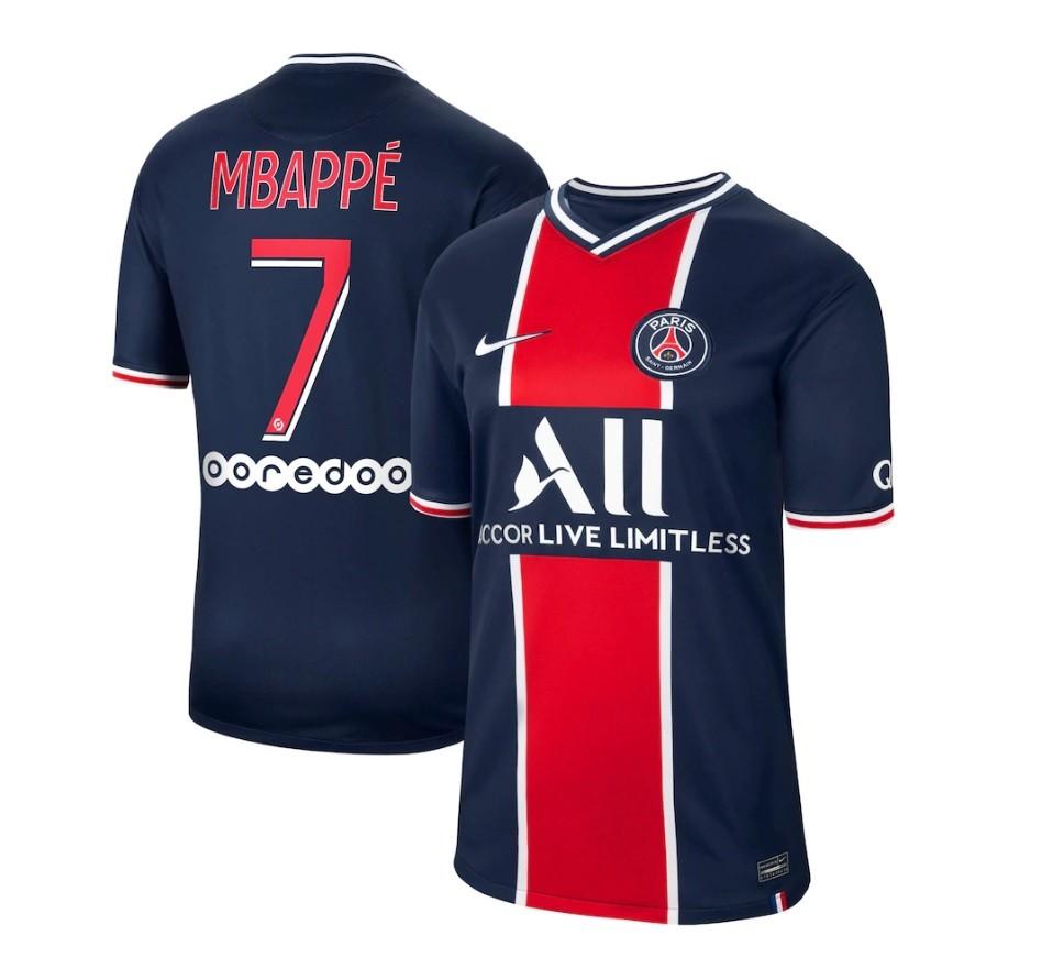 Домашняя футболка ПСЖ сезон 2020-2021 Мбаппе, 7