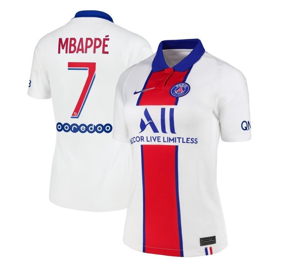 Женская выездная футболка ПСЖ сезон 2020-2021 Мбаппе, 7