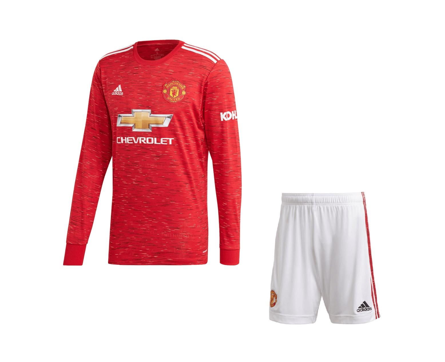 Домашняя форма Манчестер Юнайтед с длинным рукавом сезон 2020-2021