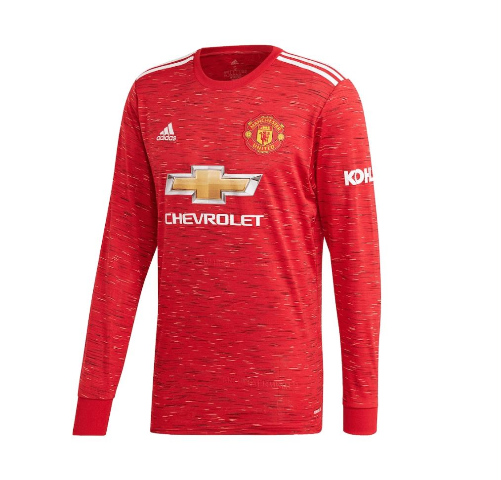 Домашняя футболка Манчестер Юнайтед с длинным рукавом сезон 2020-2021