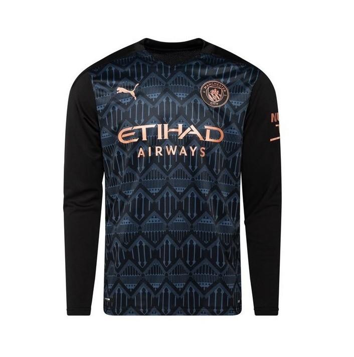 Выездная футболка Манчестер Сити с длинным рукавом сезон 2020-2021
