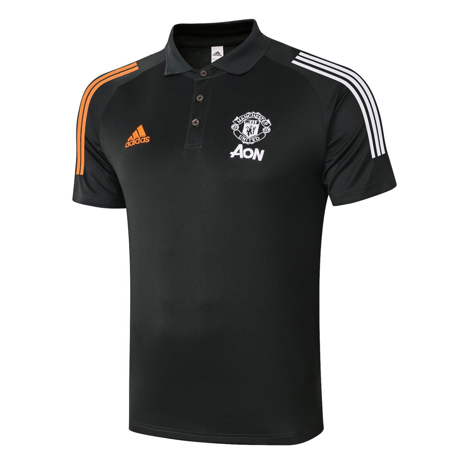 Футболка поло Манчестер Юнайтед сезон 2020-2021 (Чёрная)