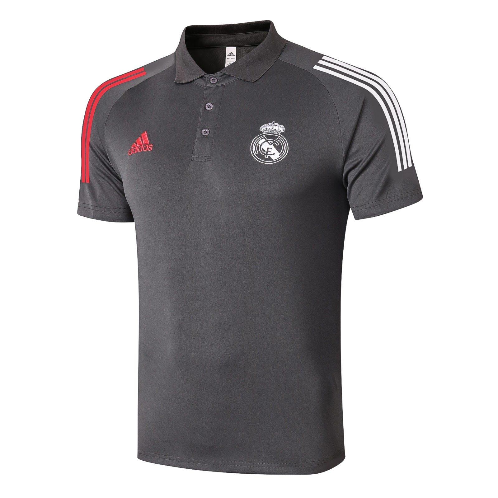 Футболка поло Реал Мадрид сезон 2020-2021 (Чёрная)