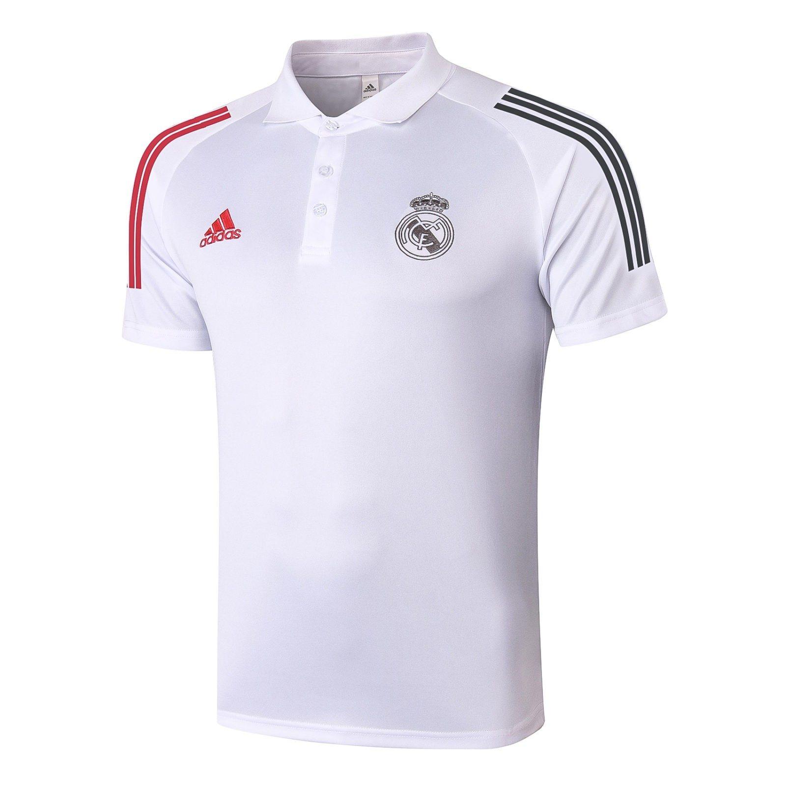 Футболка поло Реал Мадрид сезон 2020-2021 (белая)