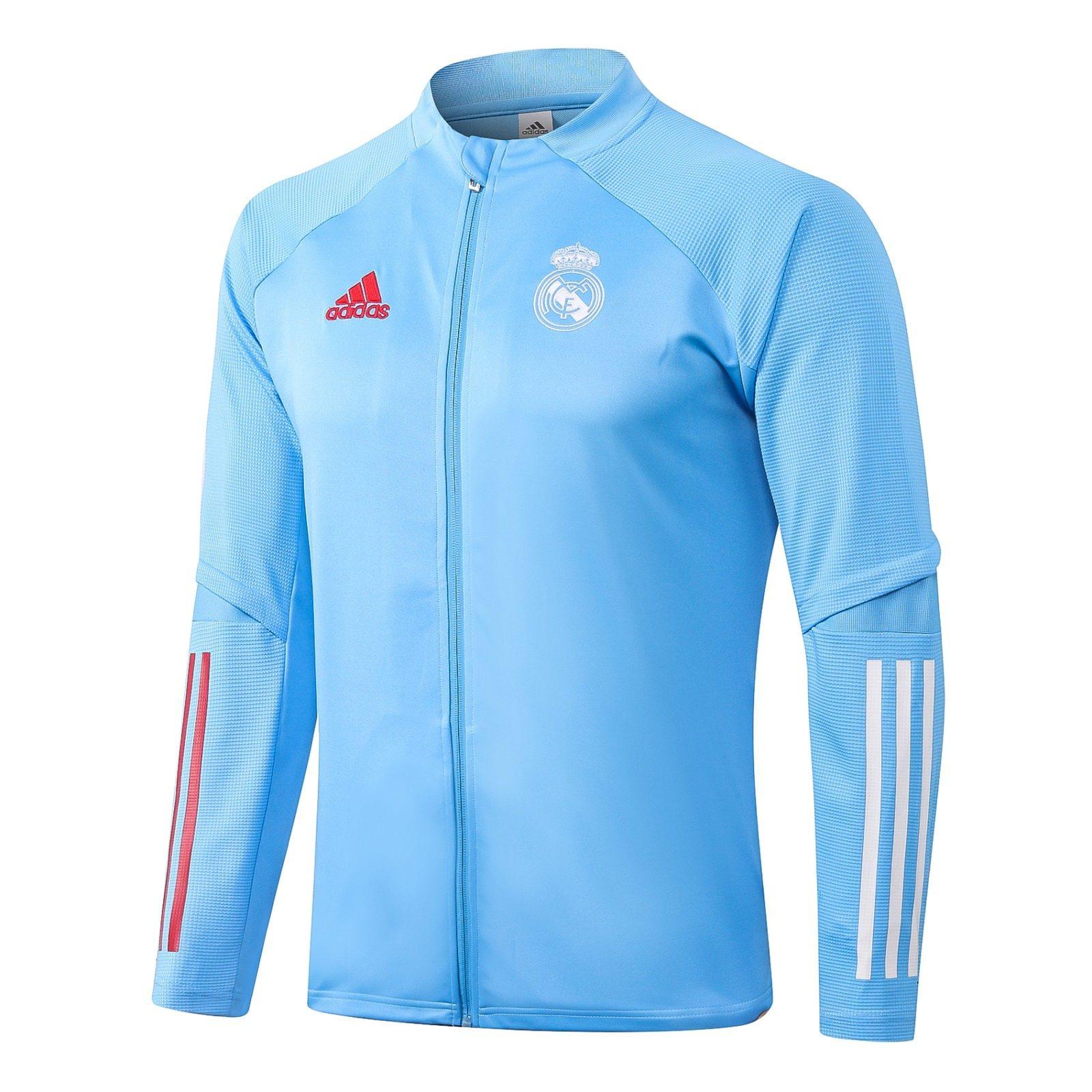 Олимпийка Реал Мадрид сезон 2020-2021 (Голубая)