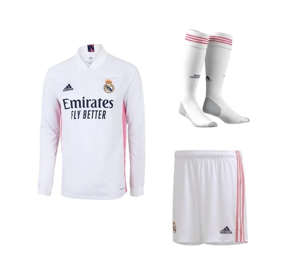 Домашний комплект Реал Мадрид с длинным рукавом сезон 2020-2021