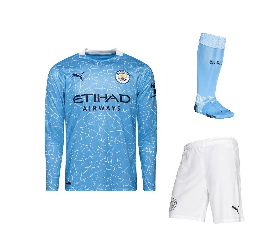 Домашний комплект Манчестер Сити с длинным рукавом сезон 2020-2021