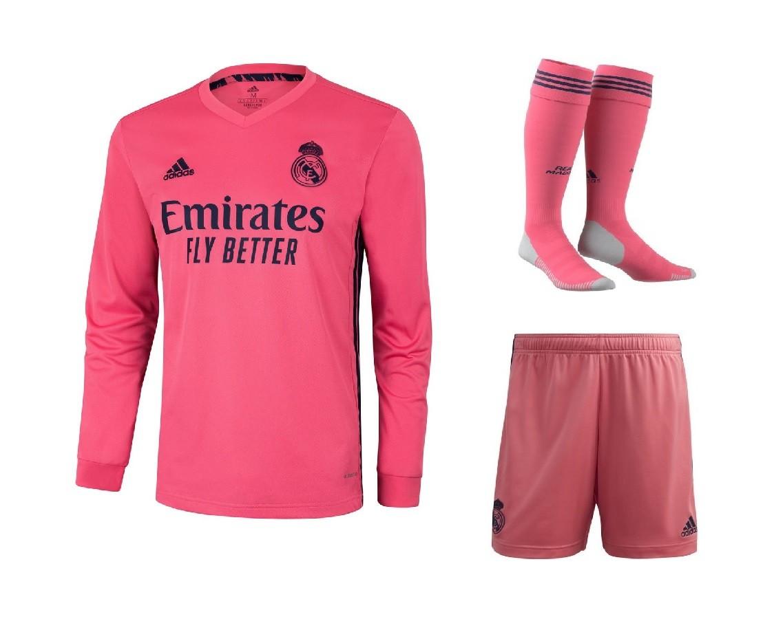 Выездной комплект Реал Мадрид с длинным рукавом сезон 2020-2021