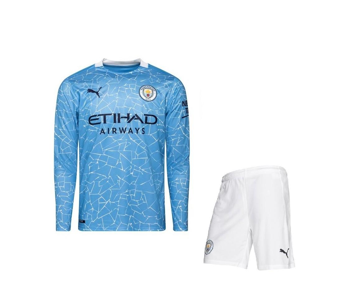 Домашняя форма Манчестер Сити с длинным рукавом сезон 2020-2021