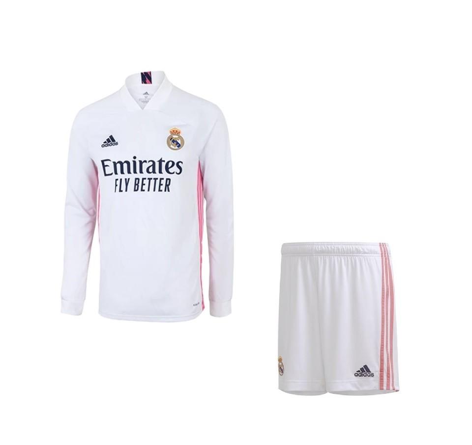 Домашняя форма Реал Мадрид с длинным рукавом сезон 2020-2021