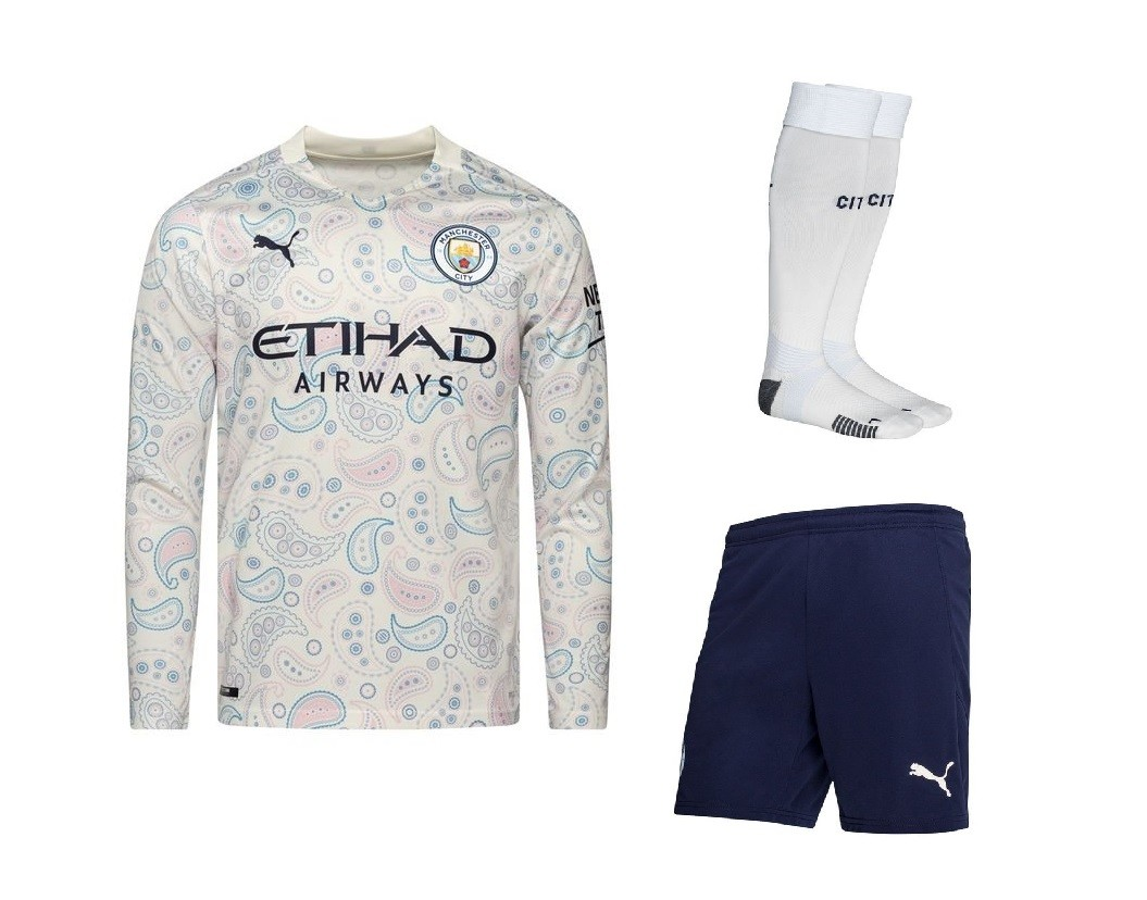 Резервный комплект Манчестер Сити с длинным рукавом сезон 2020-2021