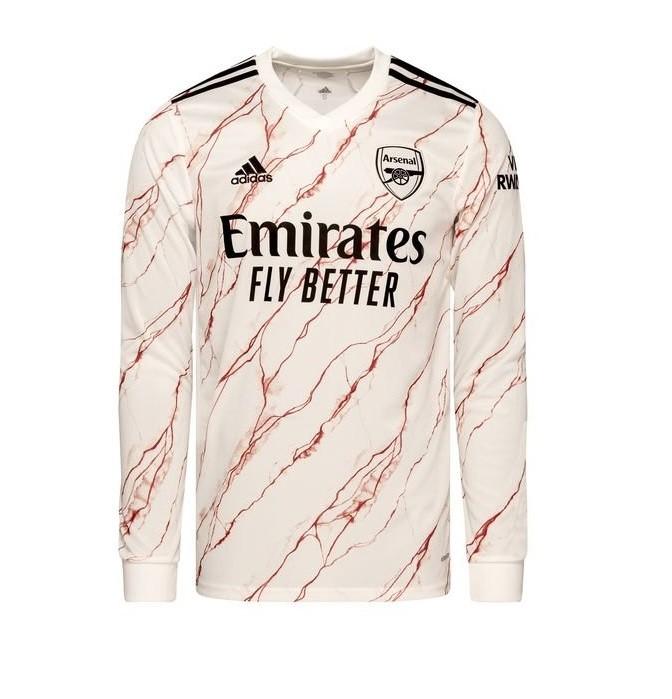 Выездная футболка Арсенала с длинным рукавом сезон 2020-2021