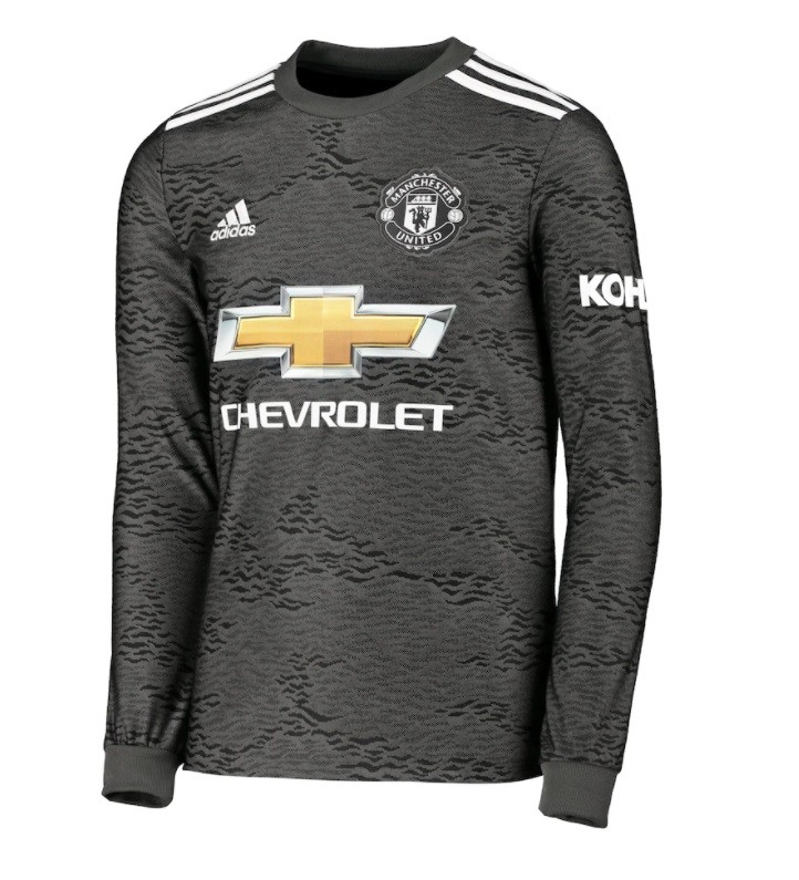 Выездная футболка Манчестер Юнайтед с длинным рукавом сезон 2020-2021