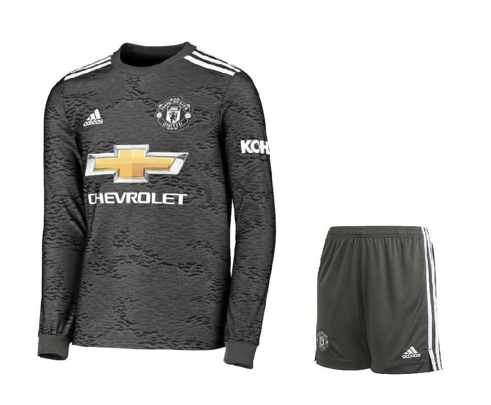 Выездная форма Манчестер Юнайтед с длинным рукавом сезон 2020-2021