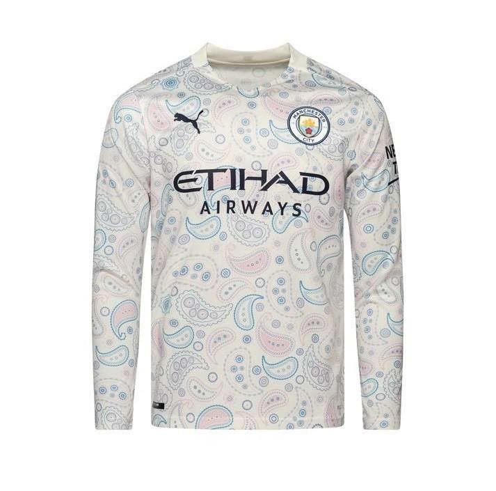 Резервная футболка Манчестер Сити с длинным рукавом сезон 2020-2021