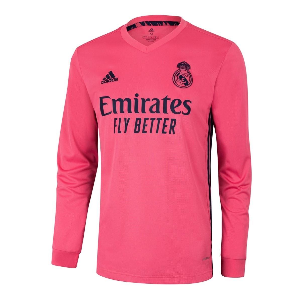 Выездная футболка Реал Мадрид с длинным рукавом сезон 2020-2021