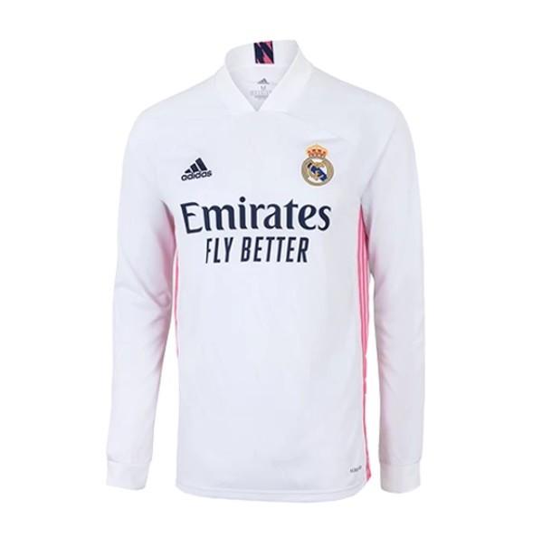 Домашняя футболка Реал Мадрид с длинным рукавом сезон 2020-2021