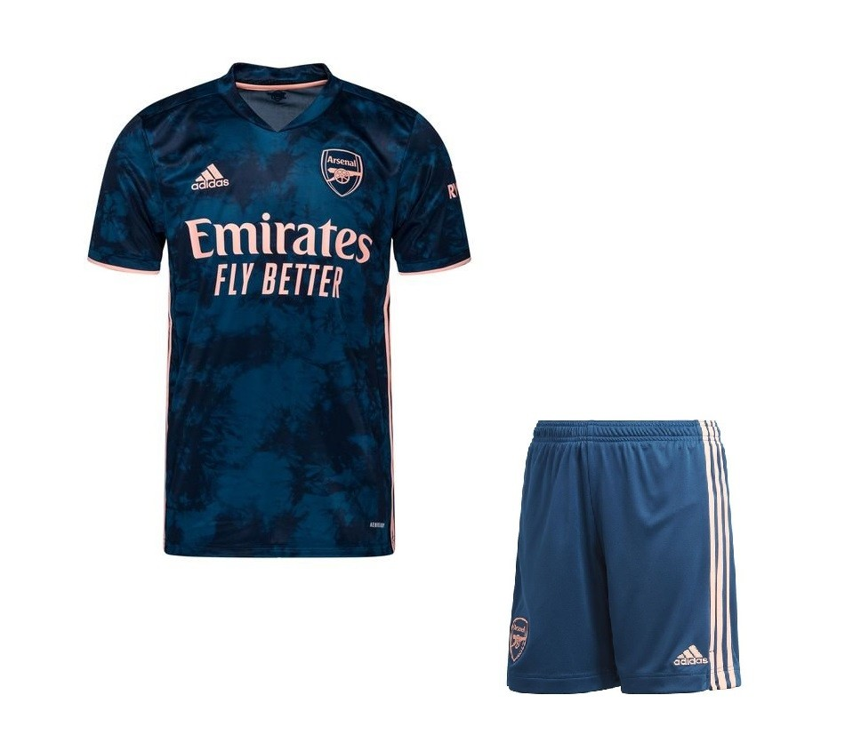 Резервная форма Арсенала сезон 2020-2021, черно-синий третий комплект от adidas