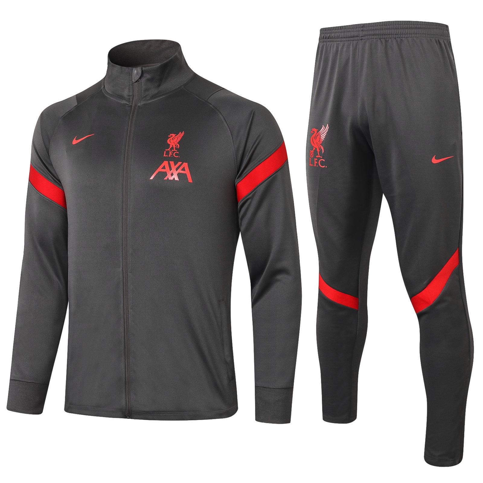 Спортивный костюм Ливерпуля сезон 2020-2021 арт.56004 черный
