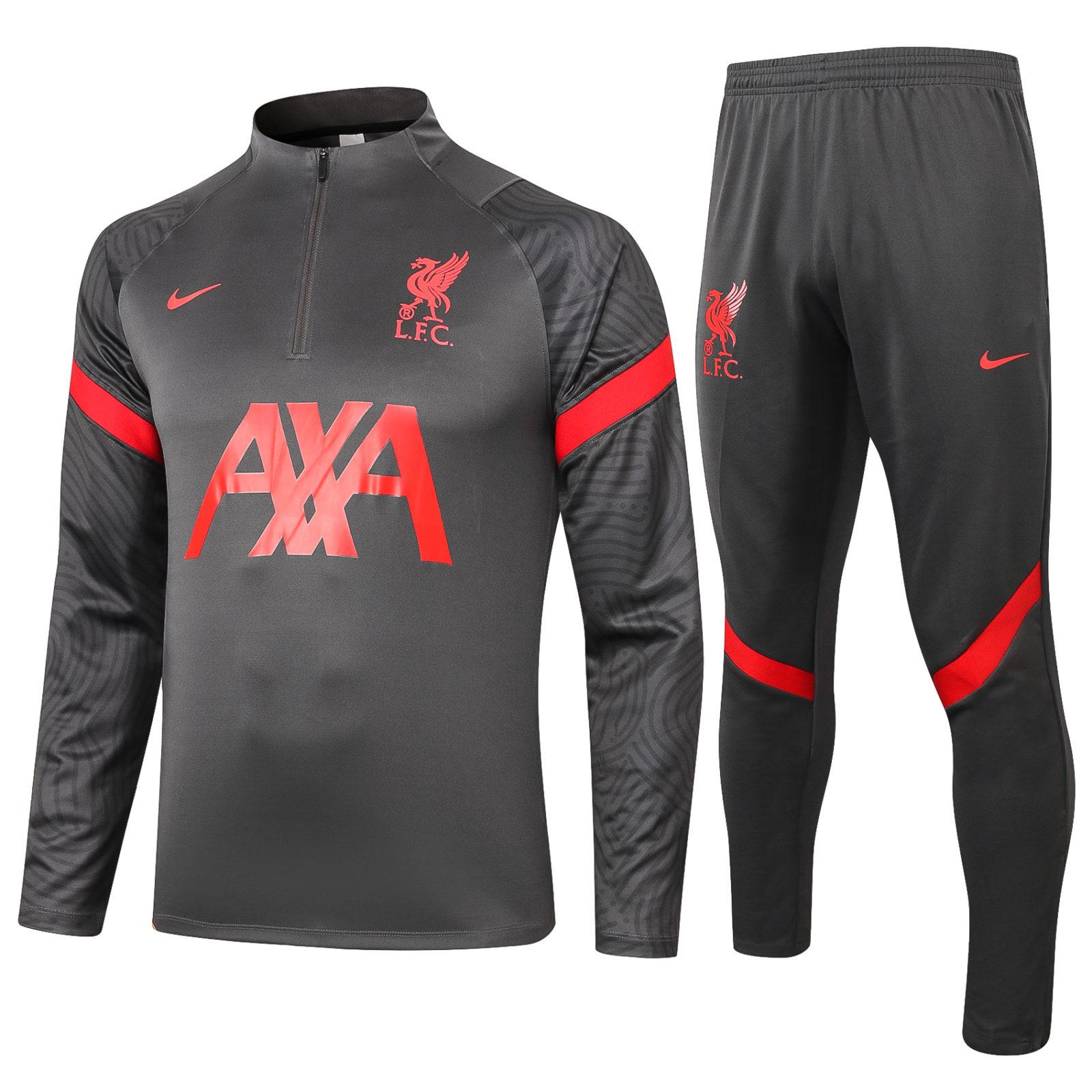 Спортивный костюм Ливерпуля сезон 2020-2021 арт.56005 с красными вставками