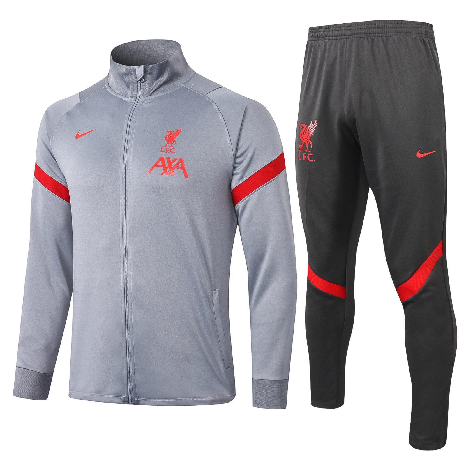 Серый спортивный костюм Ливерпуля сезон 2020-2021 арт.56003