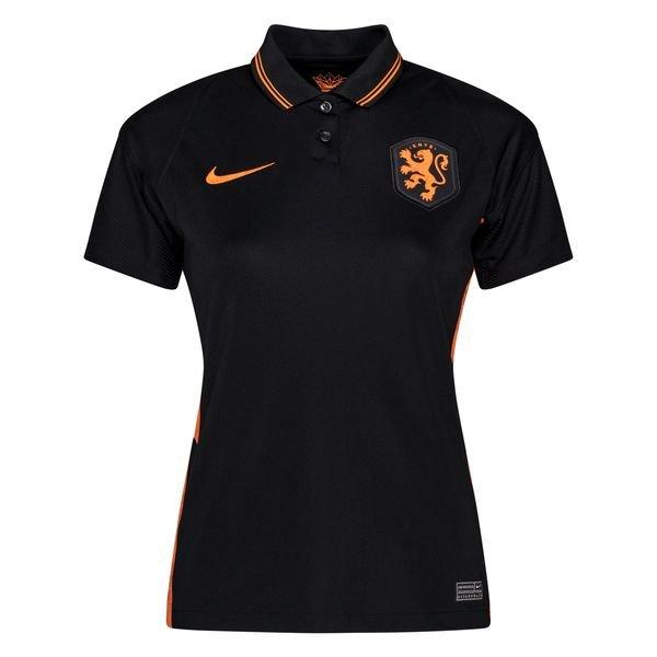 Женская выездная футболка сборной Нидерландов черная Евро 2020