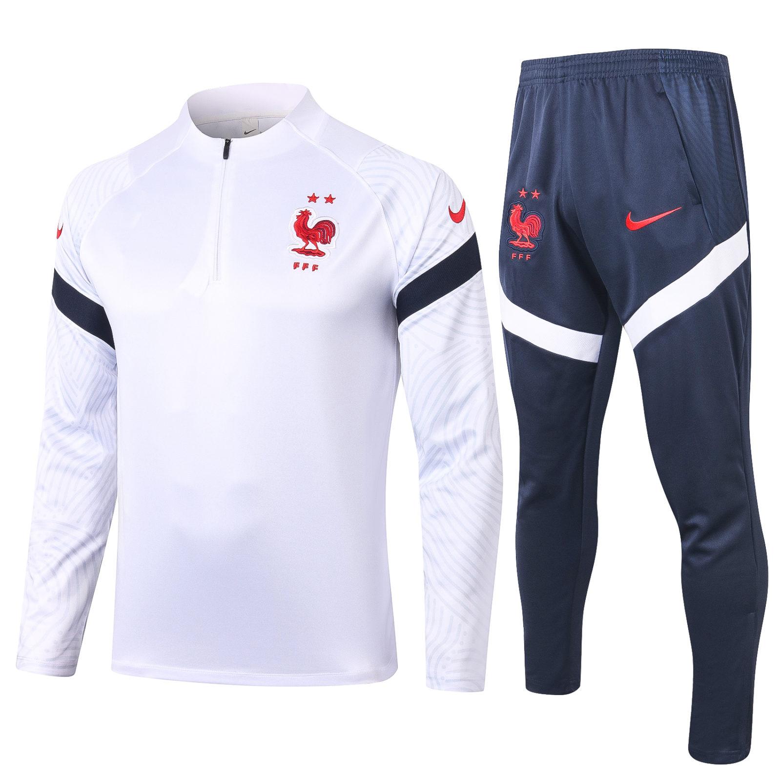 Спортивный костюм сборной Франции с белой олимпийкой арт.27002