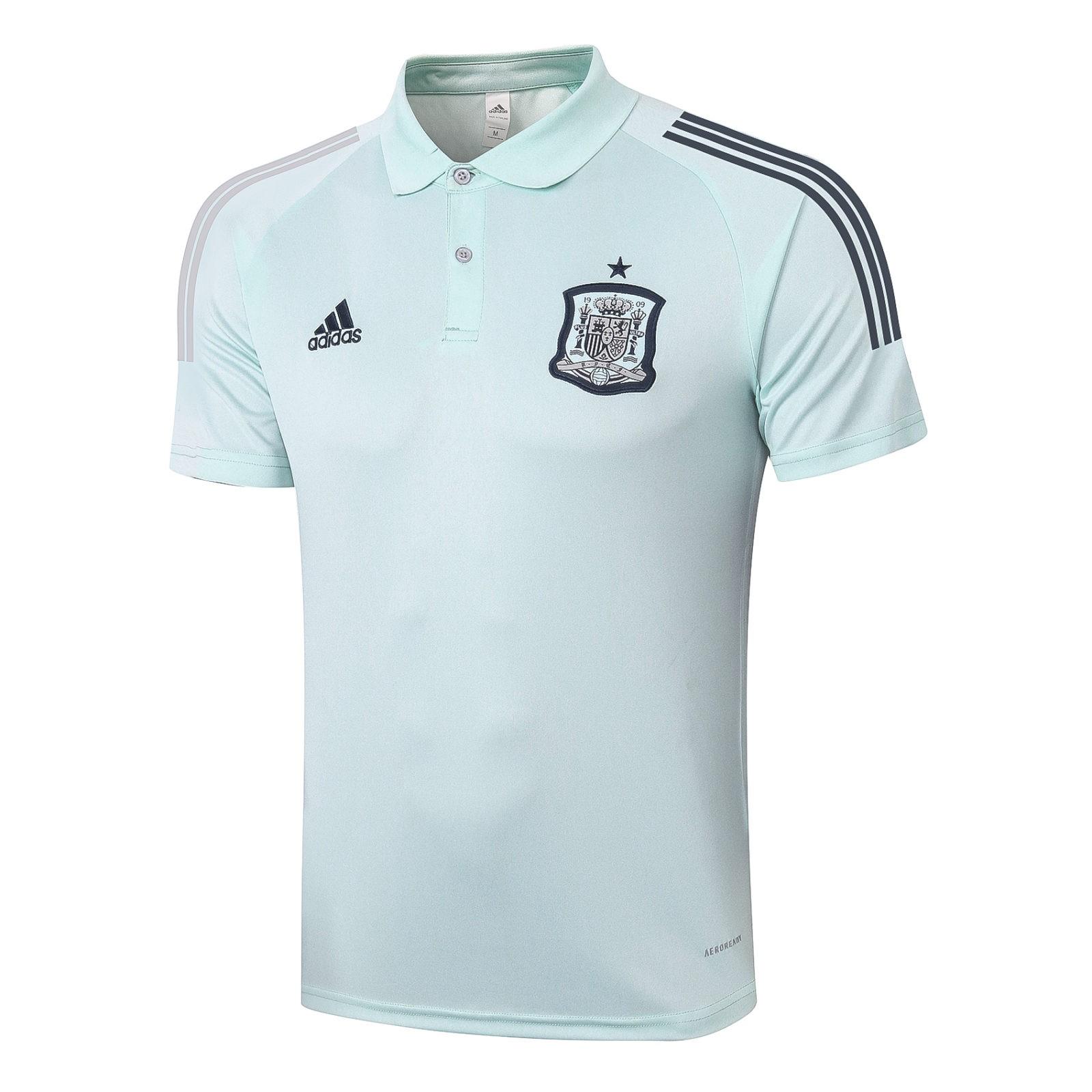 Футболка поло сборной Испании Евро 2020 (Мятная)