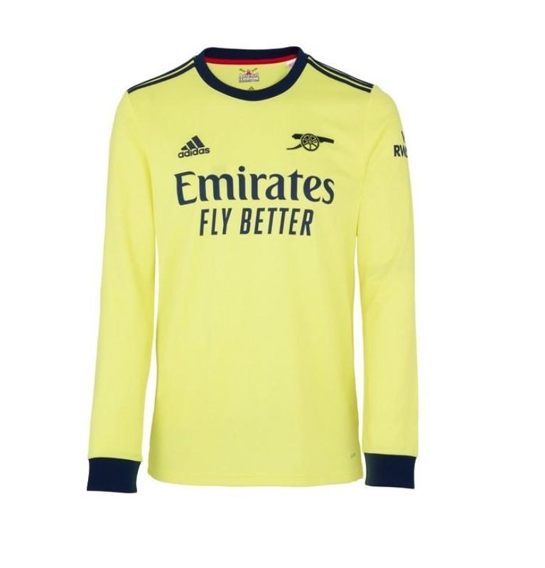 Выездная футболка Арсенала с длинным рукавом сезон 2021-2022