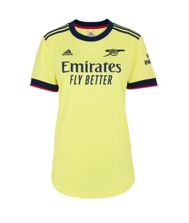 Женская выездная футболка Арсенала сезон 2021-2022