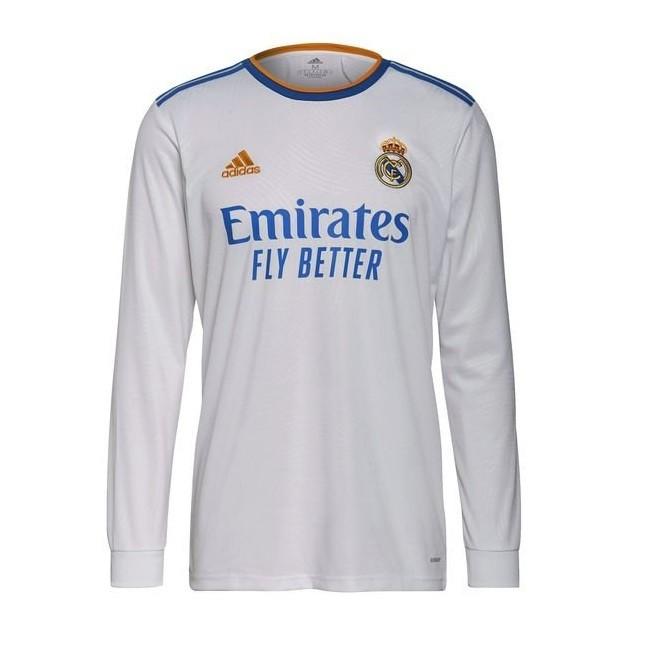 Домашняя футболка Реал Мадрид с длинным рукавом сезон 2021-2022