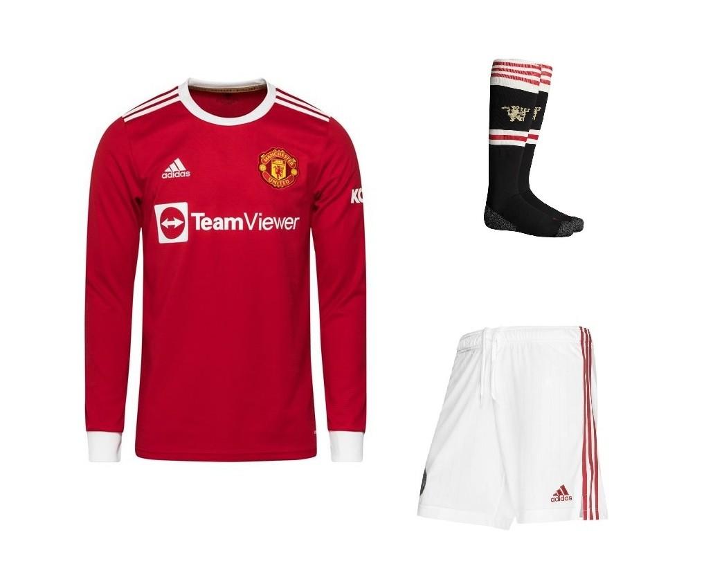 Домашний комплект Манчестер Юнайтед с длинным рукавом сезон 2021-2022