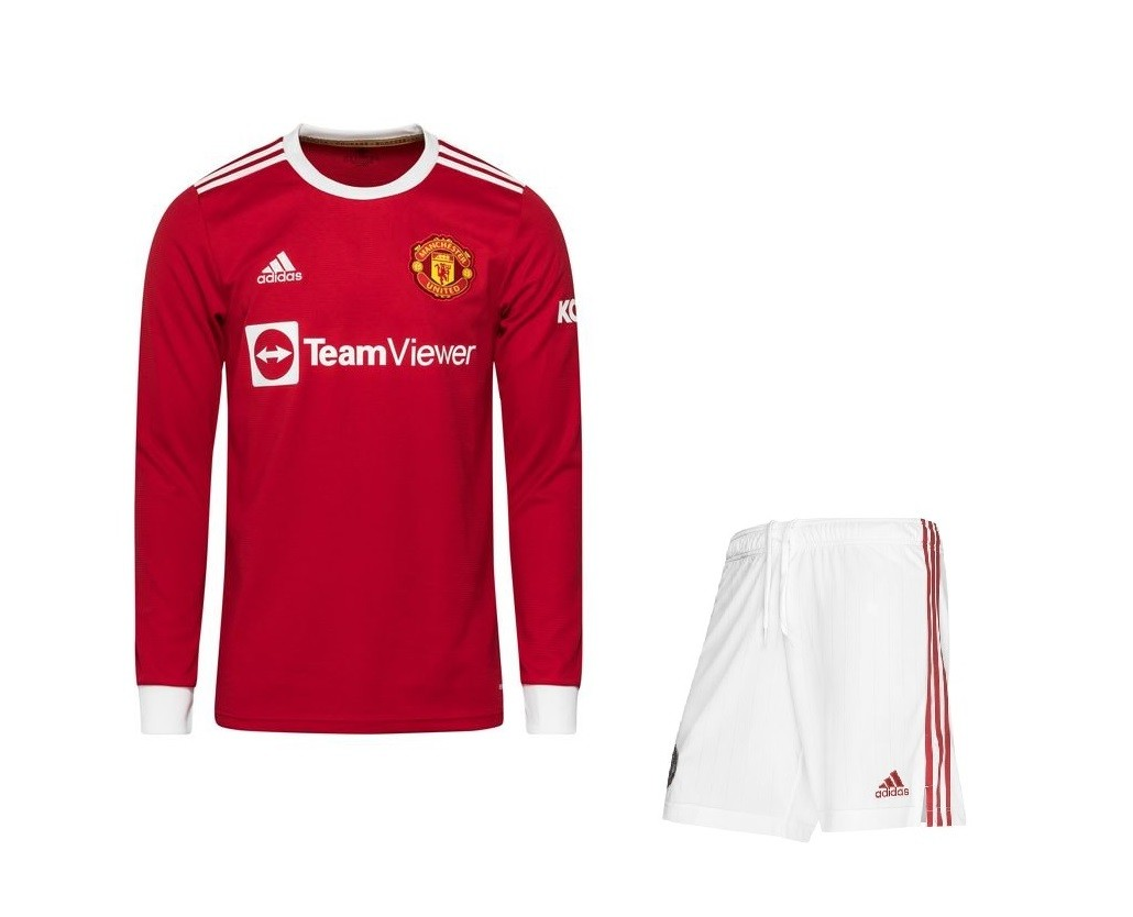 Домашняя форма Манчестер Юнайтед с длинным рукавом сезон 2021-2022