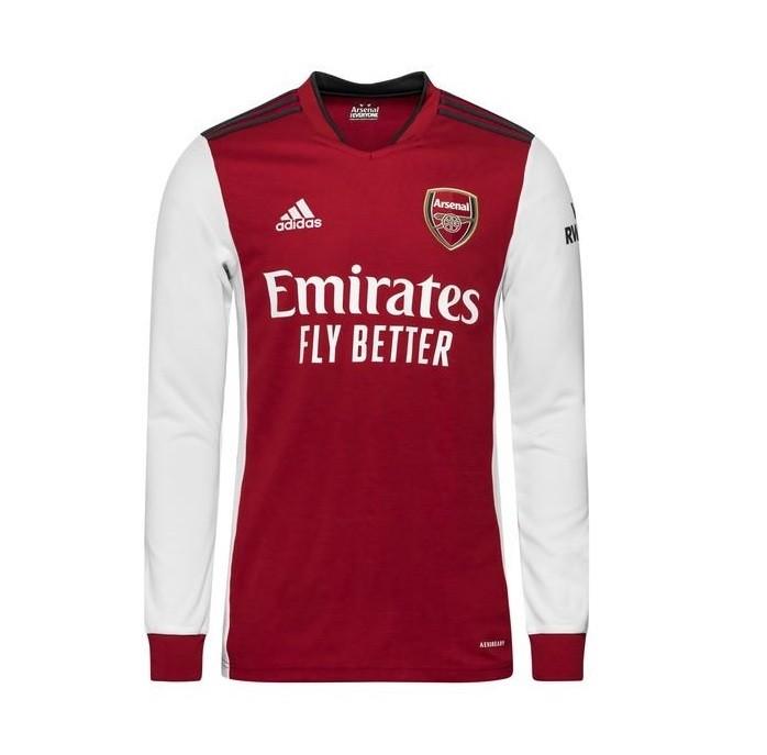 Домашняя футболка Арсенала с длинным рукавом сезон 2021-2022
