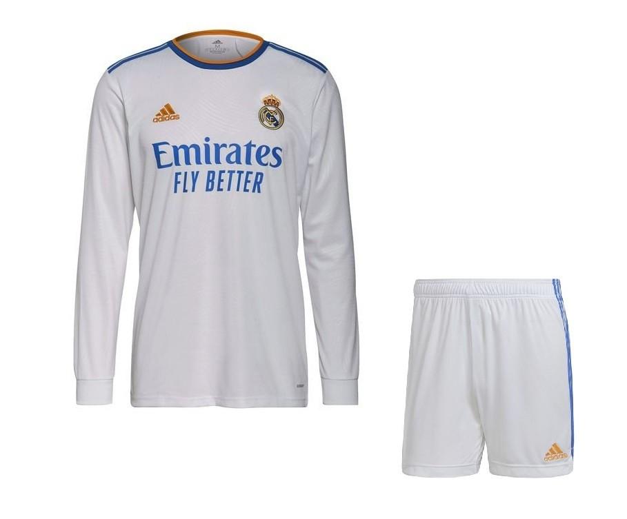 Домашняя форма Реал Мадрид с длинным рукавом сезон 2021-2022