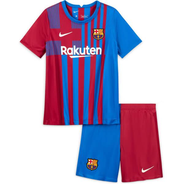 Детская домашняя форма Барселоны сезон 2021-2022