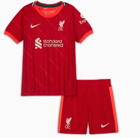 Детская домашняя форма Ливерпуля сезон 2021-2022