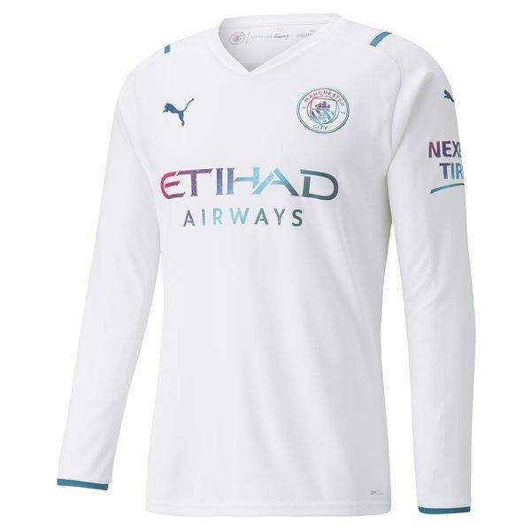 Выездная футболка Манчестер Сити с длинным рукавом сезон 2021-2022