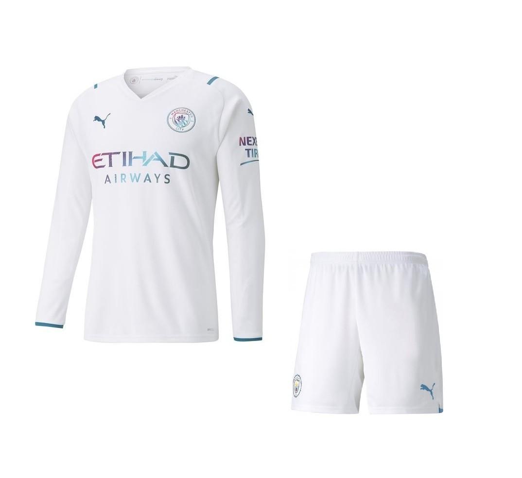 Выездная форма Манчестер Сити с длинным рукавом сезон 2021-2022