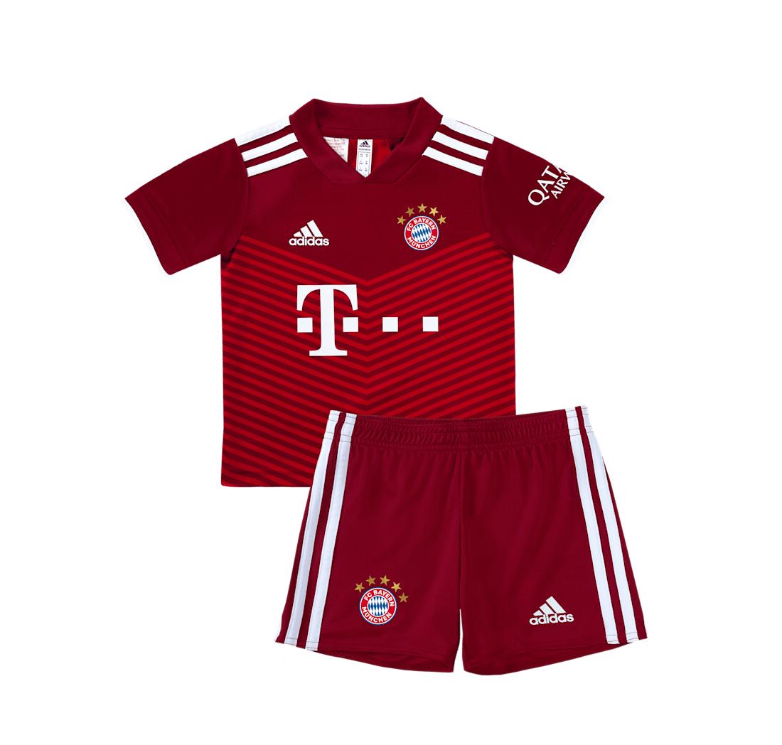 Детская домашняя форма Баварии Мюнхен сезон 2021-2022