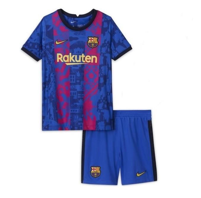 Детская резервная форма Барселоны сезон 2021-2022
